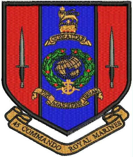 45 Commando Badge