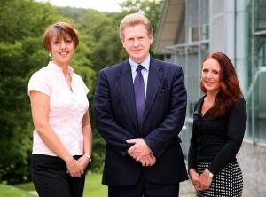 ACTR team L to R: Louise Imray, Prof David Alexander, Susan Klein