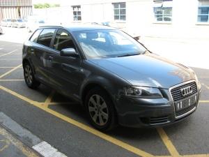 The stolen Audi