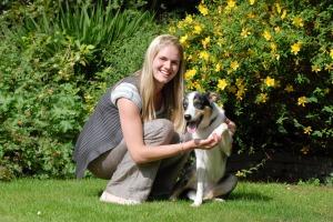 Skye with owner Julie McElhinney