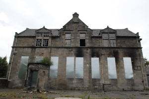The old Broxburn Primary, now derelict