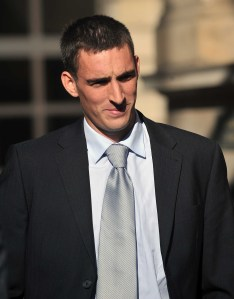 BUST-UP: gun threat charges against Lee Wallace were dropped but he was fined £1100 for behaviour