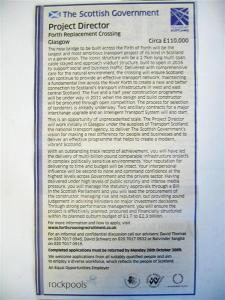 Forth Crossing Director advert (Medium)